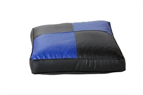 InkCraft Floor Cushion Square 24 Size Black  Blue without Bean Filler