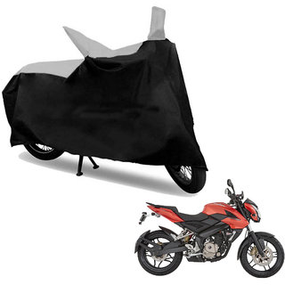AKART Black  Silver Two Wheeler Cover- 839