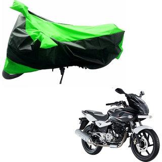 AKART Black  Green Two Wheeler Cover-256