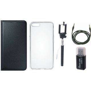 Samsung J7 Pro Cover with Memory Card Reader, Silicon Back Cover, Selfie Stick and AUX Cable