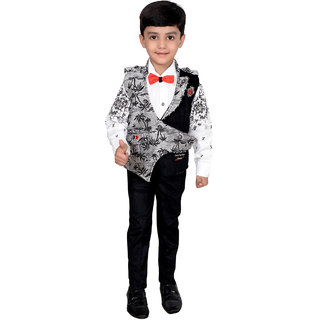 Boys Shirt Waistcoat Bow and Trouser Set Party wear