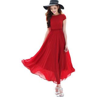 Aashish Garments - Red Net Maxi Women Dress
