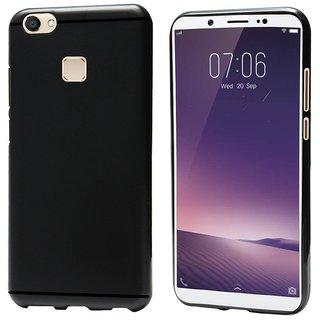 Vivo V7 Plus Premium Soft Slim Silicone Back Case Cover Black