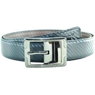 Opaque Men Black And Brown Genuine Leather Belt