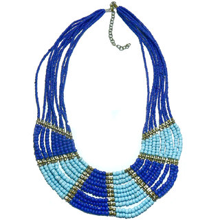 Beadworks Turquoise & Blue Color Trendy Necklace