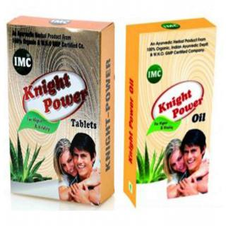 IMC KNIGHT POWER (30 Ayurvedic Tablets + Oil) WHO Certified Chemical Free