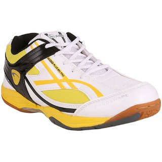PROASE White Yellow Badminton Shoes