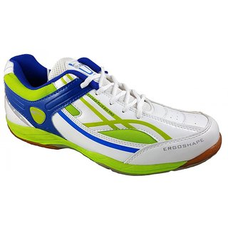 PROASE White Green Badminton Shoes