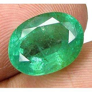 Fedput Emerald Stone Original 4.25 Ratti Colombian Certified Loose Precious Panna Gemstone