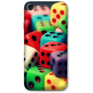 Iphone 7 Designer Hard-Plastic Phone Cover from Print Opera -Colorfull Dice