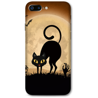 Iphone 7 plus Designer Hard-Plastic Phone Cover from Print Opera -halloween scary