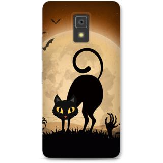 Lenovo A6600 Designer Hard-Plastic Phone Cover from Print Opera -halloween scary