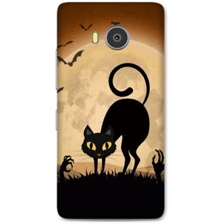 Lenovo A7700 Designer Hard-Plastic Phone Cover from Print Opera -halloween scary