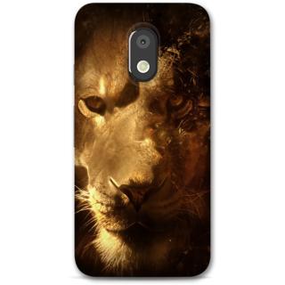 Moto E3 power Designer Hard-Plastic Phone Cover from Print Opera -Lion