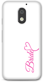Moto E3 power Designer Hard-Plastic Phone Cover from Print Opera -White Bride