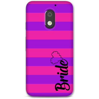 Moto E3 power Designer Hard-Plastic Phone Cover from Print Opera -Bride