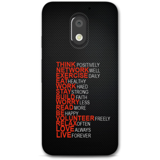 Moto E3 power Designer Hard-Plastic Phone Cover from Print Opera -Motivational Quotes