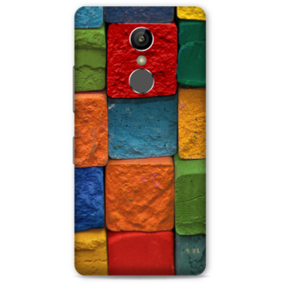 Gionee S6S Designer Hard-Plastic Phone Cover from Print Opera -Colored Cubes