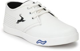 white casual sneaker shoes