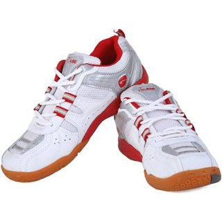 PROASE White Red Badminton Shoes