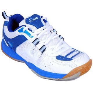 PROASE White Blue Badminton Shoes