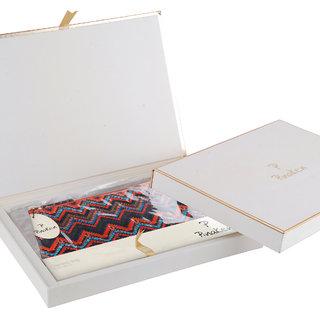 Pinaken Ikat Embroidered Embellished Multicolor Cosmetic Bag