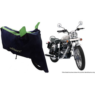 Mototrance Sporty Arc Blue Green Bike Body Cover For Enfield Electra
