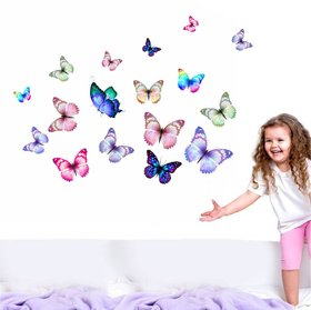 Wall Dreams Multicolor Vinyl Nature Removable Wall Sticker  25 x 1 x 30 cm    Pack of 1