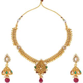 Khetlazee Multicolor Gold Plated Bridal/Wedding For Women