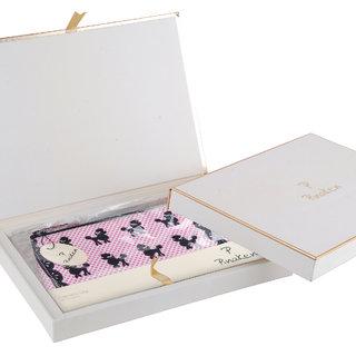 Pinaken Poodle Pop Embroidered Embellished Multicolor Cosmetic Bag