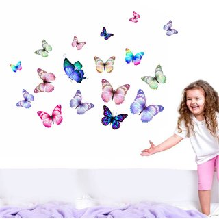Wall Dreams Multicolor Vinyl Nature Removable Wall Sticker (25 x 1 x 30 cm) - Pack of 1