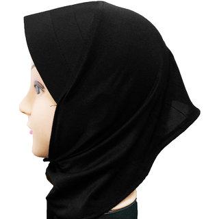Hijab NINJA CANVAS BLACK Under Scarf Ladies Abaya Head Hair Cover Women Tube Cap Burqa Stole Hosiery