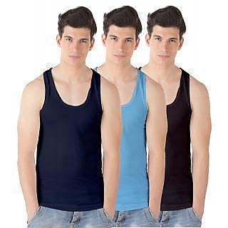 Men's Sando inner Multicolor Vest ( Set of 3)