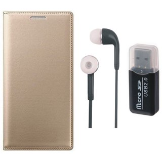 Samsung C9 Pro Luxury Cover with Memory Card Reader, Earphones