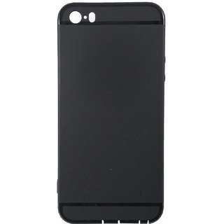 iPhone 5 Premium Soft Silicon Back Phone Cover Black