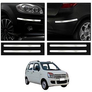 Trigcars Maruti Suzuki Wagon R 2007 Car Chrome Bumper Scratch Potection Guard