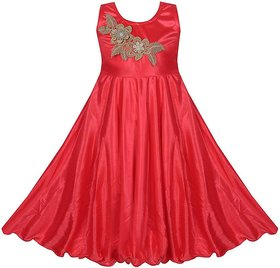 Red Princess Coral Party Wear Dress For Girls by Princeandprincess