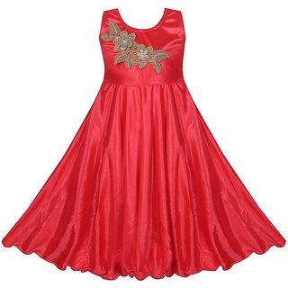 Princess Coral Party wear Dress for Girls