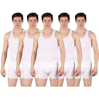 PACK OF 3 PURE WHITE MEN VEST
