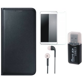 Oppo A71 Cover with Memory Card Reader, Tempered Glass and Earphones
