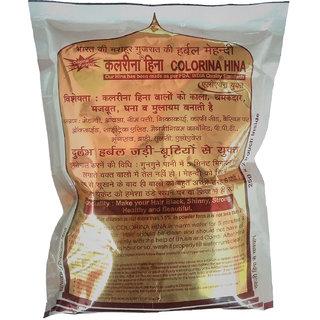 Colorina Hina - Gujrati Herbal Henna Powder (Hair Color) Natural Black (Pack of 10)