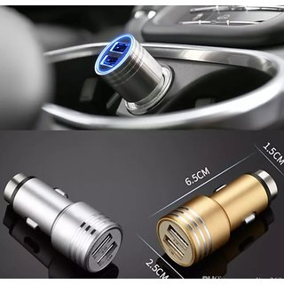Hammer Car Charger Auto Universal Metal Dual 2 Port USB Car Charger 5V 2.1A Mini Car Charger Adapter Emergency Hammer