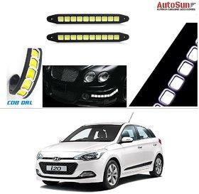 AutoStark Flexible Bumper Car Daytime Running Light COB LED DRL Square Box For  Hyundai I-20 Elite