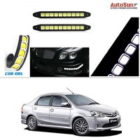 AutoStark Flexible Bumper Car Daytime Running Light COB LED DRL Square Box For  Toyota Etios