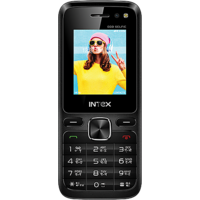 Intex Eco Selfie Dual Camera Rear  Selfie with Flash 1800 mAh - Black