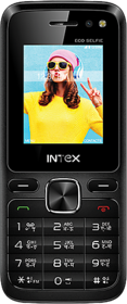 Intex Eco Selfie Dual Camera Rear  Selfie with Flash 1800 mAh - Black