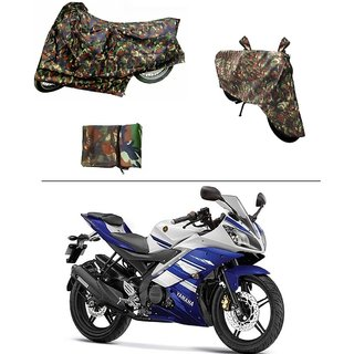 AutoStark Military Design Bike Body Cover For Hero HF Dawn