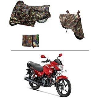 AutoStark Military Design Bike Body Cover For Hero Glamour FI