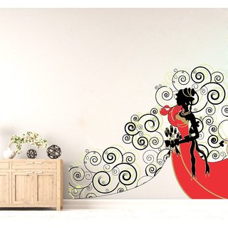 Wall Sticker Abstract Design (Cover Area :- 28 X 24 inch)
