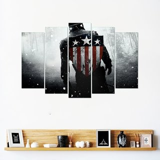 Wall Sticker Captain America Design (Cover Area :- 36 X 23 inch)
